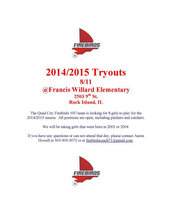TRYOUT FLYER